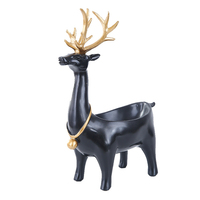 Nordic Style Household Ornaments Resin Deer Model Family Modern Living Room Wine Cabinet TV Cabinet Craft Wedding Party Gifts