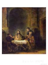 The Supper at Emmaus Rembrandt van Rijn reproduction art High quality Handpainted