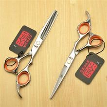 6.0 Inch 17.5cm Japan Kasho Professional Human Hair Scissors Salon Hairdressing Scissors Cutting Shears Thinning Scissors H1009