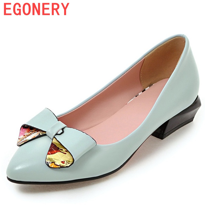 EGONERY shoes 2017 zapatos mujer new arrival elegant pumps pointed toe women shoes square heels concise butterfly-knot shoes famiao women pumps goddess party wedding shoes 2017 new thin heels new zapatos mujer pointed toe golden superstar shoes