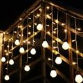1.5 M 48SMD Holiday Lighting 10*5 cm Bola Ondulado LED Luces de Hadas Cadena Cortina Decrative para el Hogar Navidad Decoración del partido de Luz