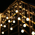 1.5M 48SMD Holiday Lighting 10*5cm Ball Wavy LED String Fairy Curtain Lights Decrative for Christmas Home Party Decoration Light