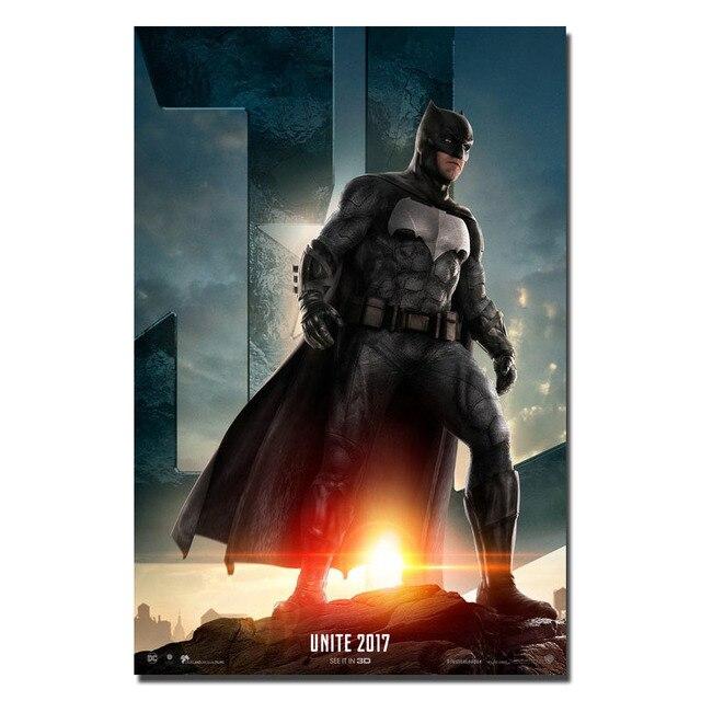 Плакат Гобелен Материал Шелк Бэтмен Лига Справедливости
