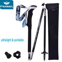 2 PCS Carbon Fiber Folding Ultralight Walking Sticks Lightweight Collapsible Trail Running Hiking Poles Cane