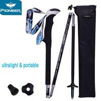 New Carbon Fiber Walking Stick Climbing Hiking Poles Folding Nordic Sticks Camping Cane Trekking Pole Mountaineering