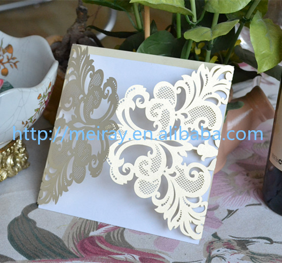 80pcs Lot Laser Cut Wedding Invitations Invitation Cards For Decorations Latest Indian