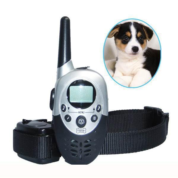For ONE Dog Vibration Beep & electric shock remote 1000m Training collar rechargeble LCD display Dog trainer with self-sleep dog care training collar
