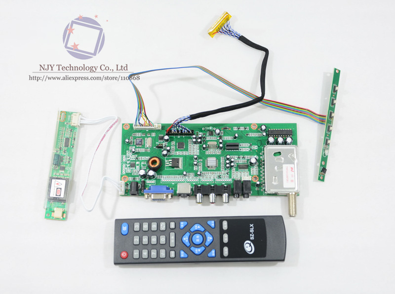 все цены на  RT6251 TV VGA AV AUDIO LCD TV Controller Board Driver Board Kit with Remote Control for LTM14C421E 14.1 inch 1024x768 CCFL LVDS  онлайн
