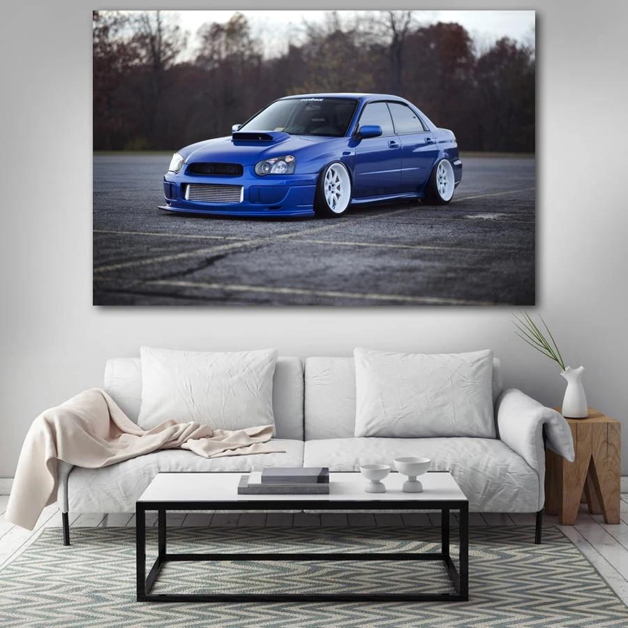 Photo Poster Print Art * All Sizes CAR POSTER AA620 SUBARU IMPREZA WRX BLUE