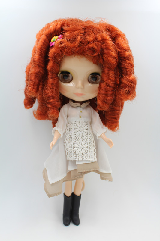Free Shipping big discount RBL-255DIY Nude Blyth doll birthday gift for girl 4colour big eyes dolls with beautiful Hair cute toy