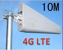100% 11dbi 10 м sma lte 4 Г 3 г антенна LTE 3 г 4 г открытый антенны лдп панельная антенна усилитель антенны для huawei e5172 b593 e5776