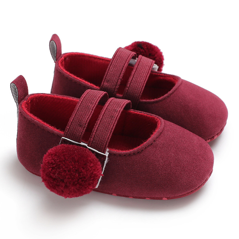 2019 Hot Sale Soft shoes toddler shoes Baby Shoes Sweet Infant Toddler Girl Princess Hair Ball First Walkers toddler moccasins in First Walkers from Mother Kids