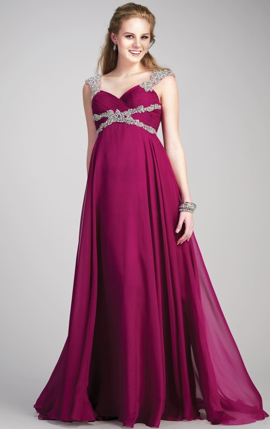 Spring Women Summer Beading Chiffon For Pregnant Sweetheart Maternity Prom Gowns A Line Plus Size 2018 bridesmaid dresses in Bridesmaid Dresses from Weddings Events