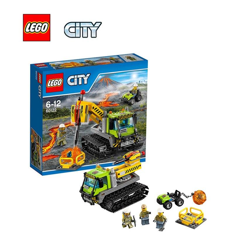 ФОТО LEGO City Volcano Crawler Architecture Building Blocks Model Kit Plate Educational Toys For Children LEGC60122