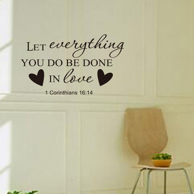 religious home decor bible verse wall stickers removable christian