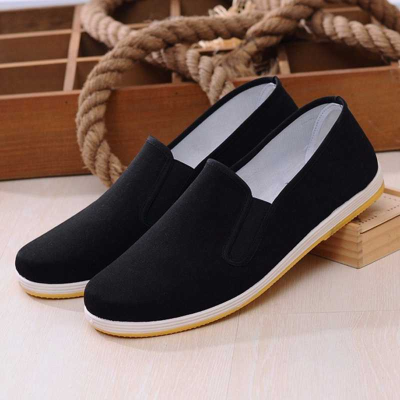 206d439c864 ... Loafers Men Canvas Shoes Man Sneakers Casual Shoes Slip on Flat Black  Moccasin Trainers Sneakers Mocassin ...