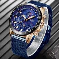 LIGE 2019 Herren Uhren Top Brand Luxus Wasserdicht Mode Uhr Quarzuhr Männer Sport Chronograph reloj hombre dropshipping