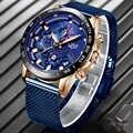 LIGE 2019 hommes montres haut de gamme marque de luxe étanche montre de mode montre à Quartz hommes Sport chronographe reloj hombre livraison directe