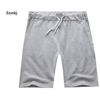 2017 Men Youth Pop Boys Solid Sports Baggy Loose Elastic Shorts Cotton String Beach Shorts Summer