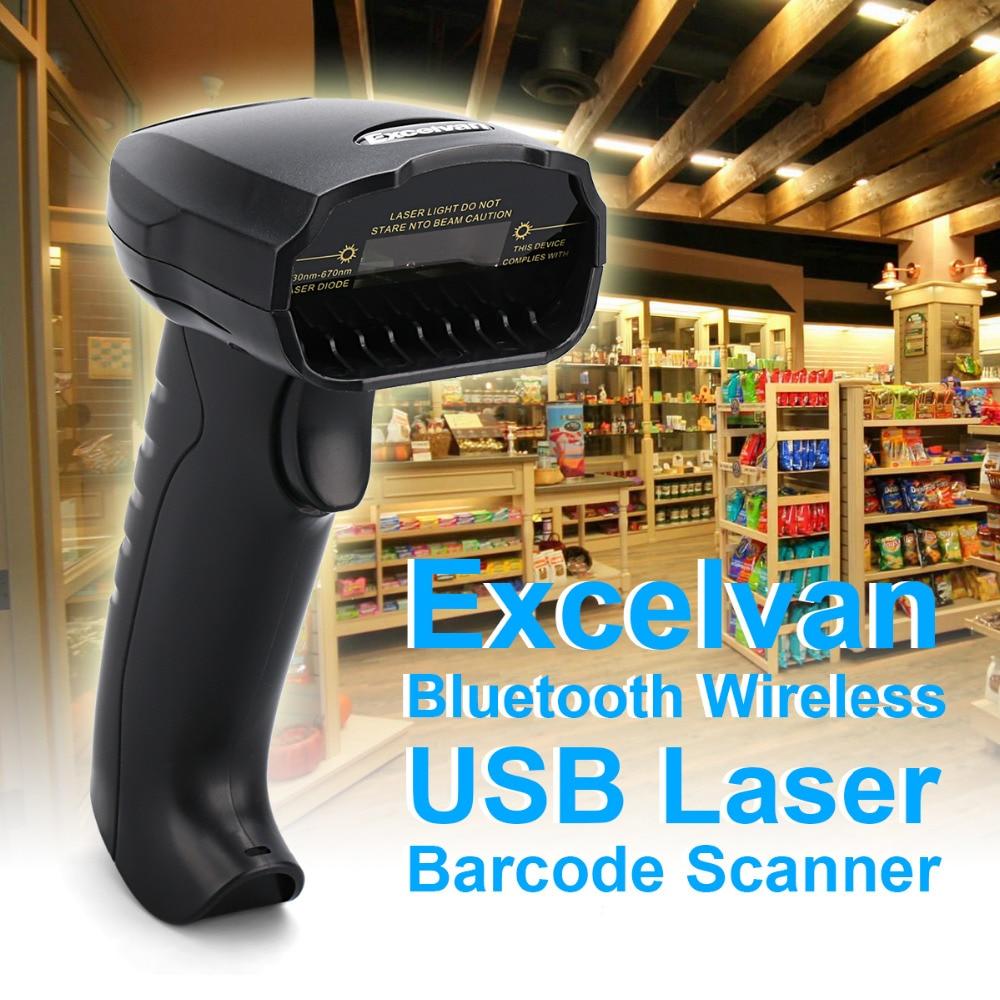 excelvan usb 3 0 bluetooth barcode reader mobile payment handheld wireless usb laser bar code. Black Bedroom Furniture Sets. Home Design Ideas
