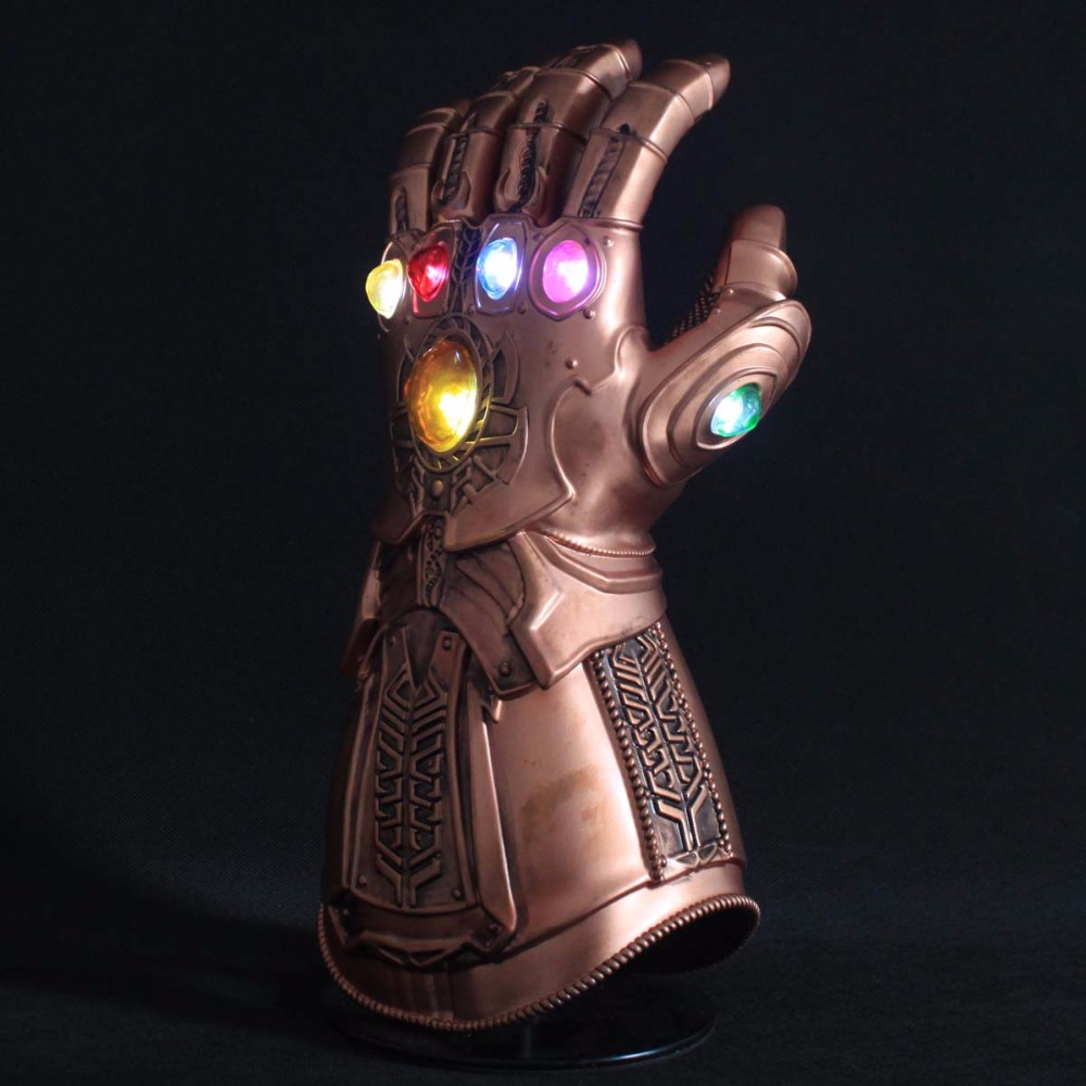 Sensorlamp Action Led Light Thanos Infinity Gauntlet Avengers Infinity War Cosplay Led Gloves Pvc Action Figure Model