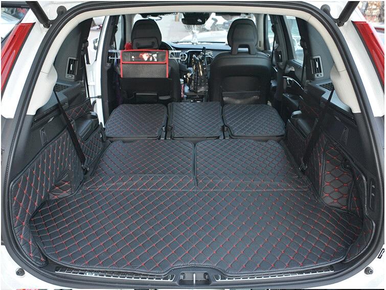 Boa qualidade! esteiras tronco especial para Volvo XC90 7 assentos 2018-2015 à prova d' água tapetes boot forro de carga para XC90 2017, frete grátis
