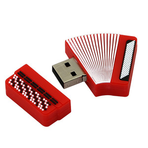 Image 2 - USB flash drive Cartoon Instruments Piano pen drive 4GB 8GB 16GB 32GB 64GB Musical Notes memory stick creative guitar pendrive