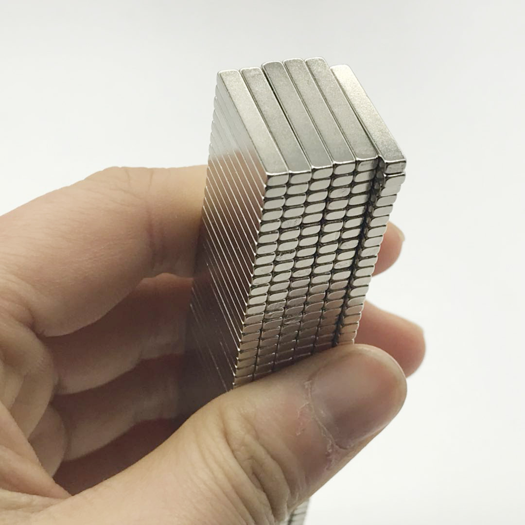 50PCS 20 3 2mm strip strong rare earth neodymium N45 N52 magnet NdFeB magnets in Magnetic Materials from Home Improvement