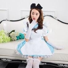 Venta caliente sexy alice lolita dress maid cosplay disfraces carnaval de halloween para las mujeres