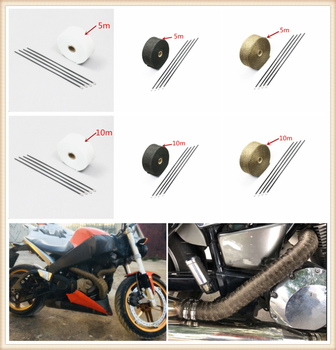 Motorcycle roll fire insulation cloth hot air exhaust heat protection cover belt for HONDA CBR929RR CBR600RR CBR954RR CB1000R image