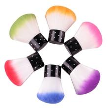 1pc Soft Nail Dust Brush UV Gel Nail Polish Nylon Hair Brush Nail Verktyg för akryl och UV Gel Nail Art Dust Clean Brushes