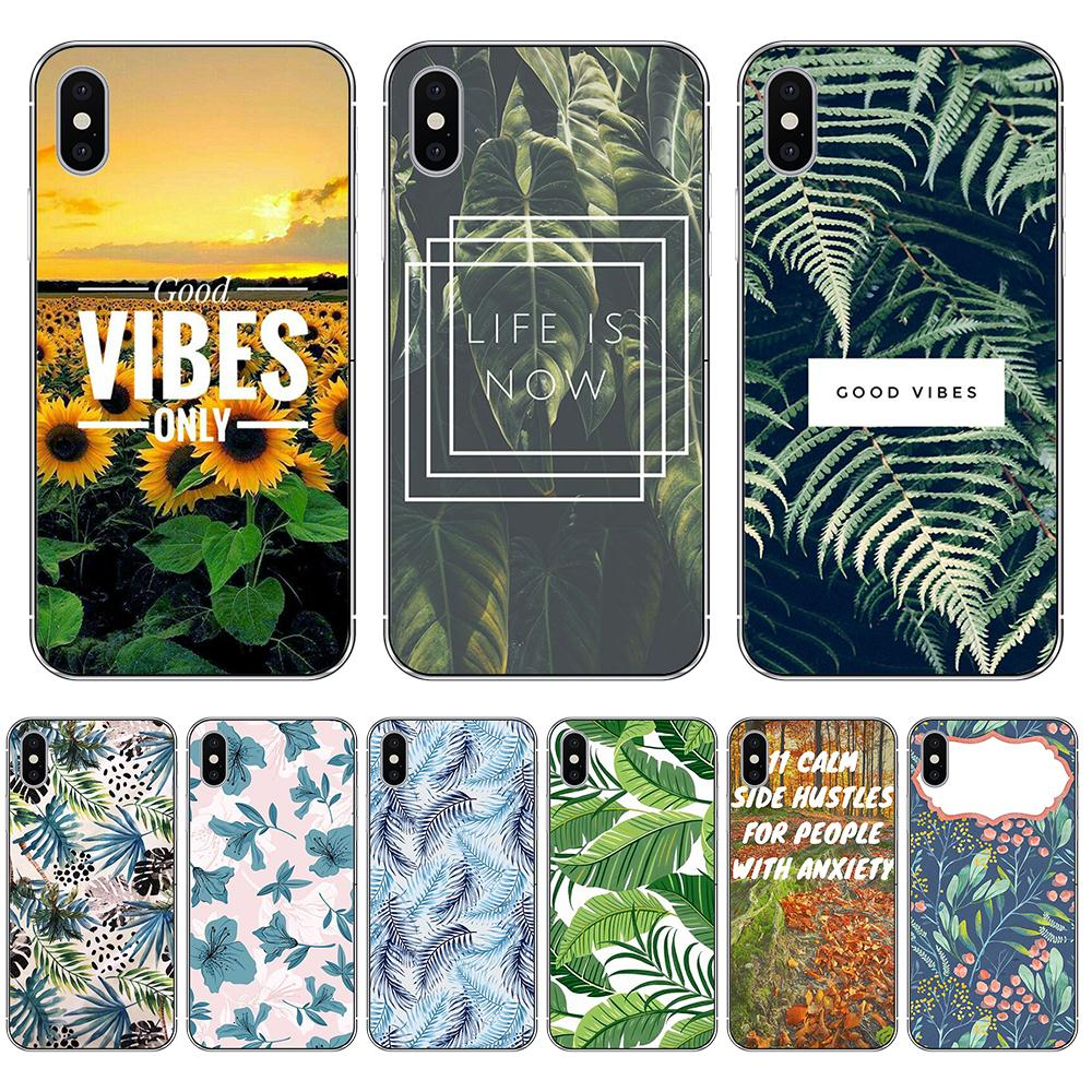 Eleteil Banana Leaves Case For Iphone X Xs Max Sunflower Plants For Iphone 6 6s 7 7plus 8 8plus Tpu Silicone Back Cover E40 With A Long Standing Reputation Cellphones & Telecommunications
