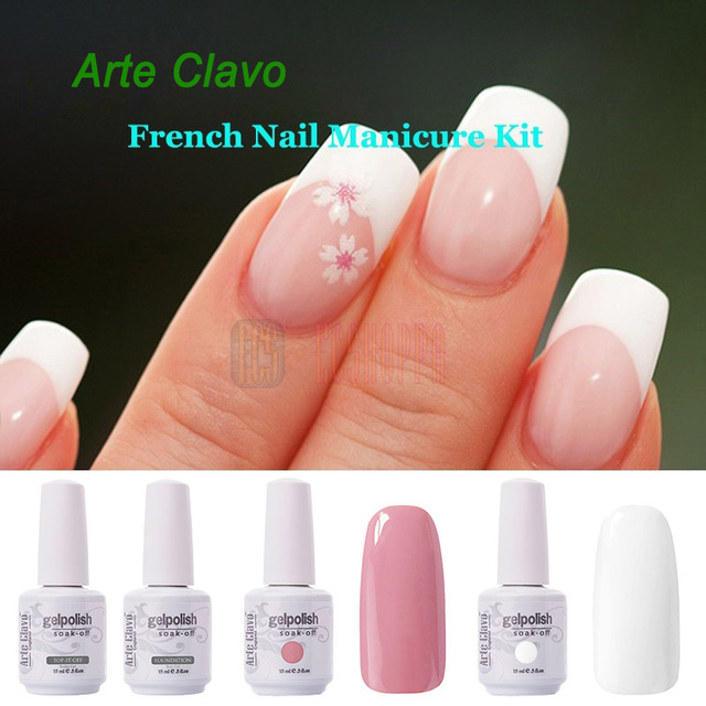 Arte clavo white pink colors base top coat french nail art soak arte clavo white pink colors base top coat french nail art soak off gel nail prinsesfo Gallery