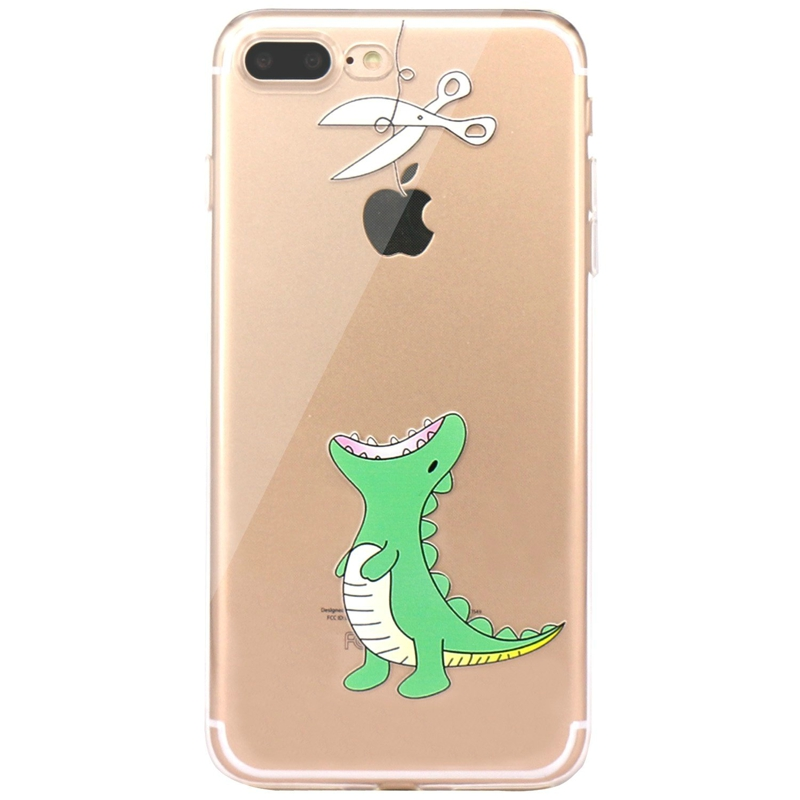 For Coque iphone 5s 5 SE 6 6S 4.7 7 8 Cover Case Cartoon Cute Animal Silicone Soft Capa For iphone 7 8 plus Clear Coque Bags
