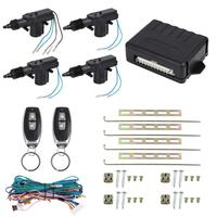 Uxcell 4 Doors Central Lock Locking System Car Keyless Entry Kit with Actuator