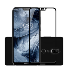2 Pcs Full Glass For Nokia 7 Plus Tempered Screen Protector for 3 5 6 8 2.1 3.1 5.1 6.1 E1 X6 2018 Film