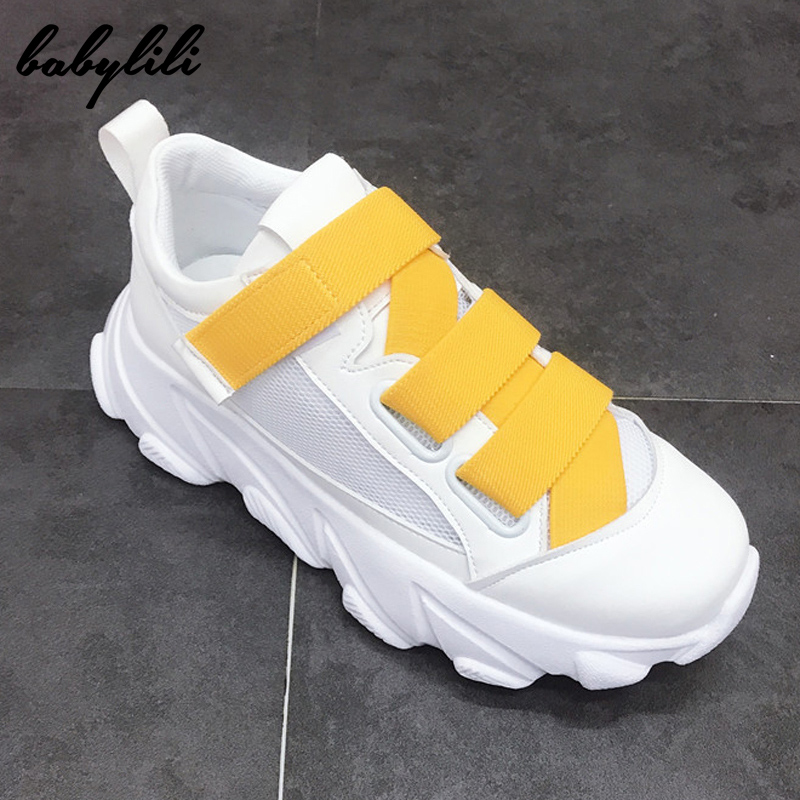 2019 Platform Sneakers Women Breathable Mesh Fashion Chunky Sneakers For Women Basket Femme Women Luxury Designer Sneakers