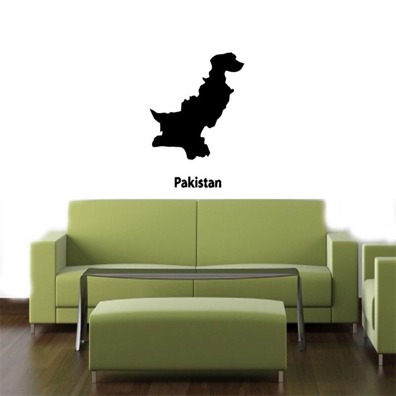 Aliexpresscom Buy PAKISTAN MAP STYLISH DESIGN WALL VINYL - Wall decals in pakistan