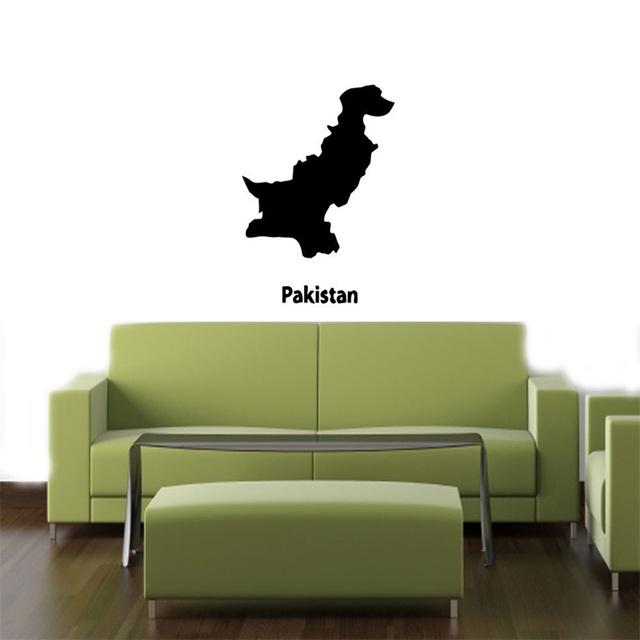 Aliexpresscom Buy PAKISTAN MAP STYLISH DESIGN WALL VINYL