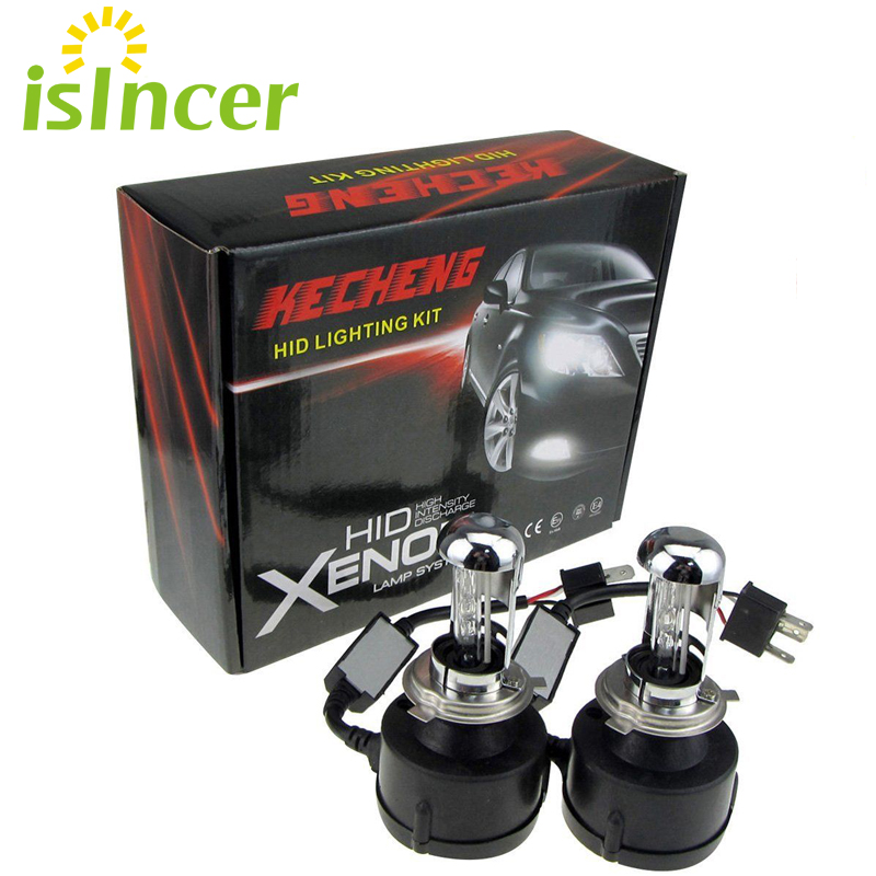 isincer Car Headlights Xenon H4 HID Bulb Headlight bi xenon 55w bixenon Hid kit High low H4 4300K 6000k 8000k 10000k Car Styling 35w 12v hi low car hid bi xenon headlight bulb lamp light kit h4 h4 3 8000k wholesale