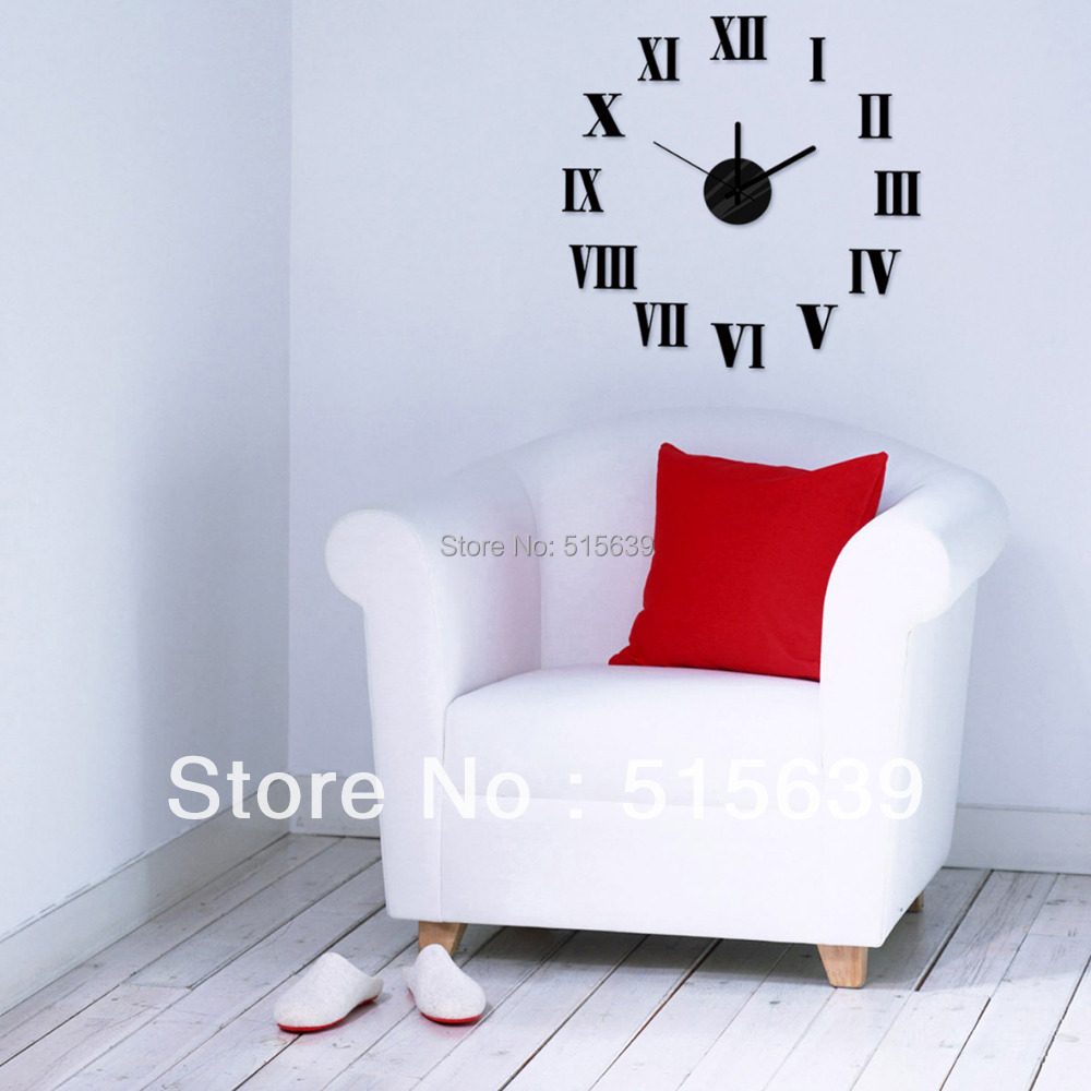 Aliexpress.com : Buy DIY Wall Clock 3D Roman Black Sticker Art Time Watch  Novelty Antique Hours Gift Home Decor Living Room Free Post 10E019 From  Reliable ... Part 55