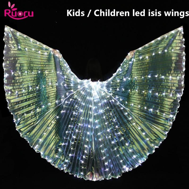 Ruoru светодио дный Isis с крыльями для танца живота танцевальные аксессуары детские светодио дный белые светодиодные крылья сценические рекви...
