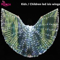 Ruoru Children Led Isis Wings Belly Dance Accessories Kids White Led Isis Wings Stage Performance Props