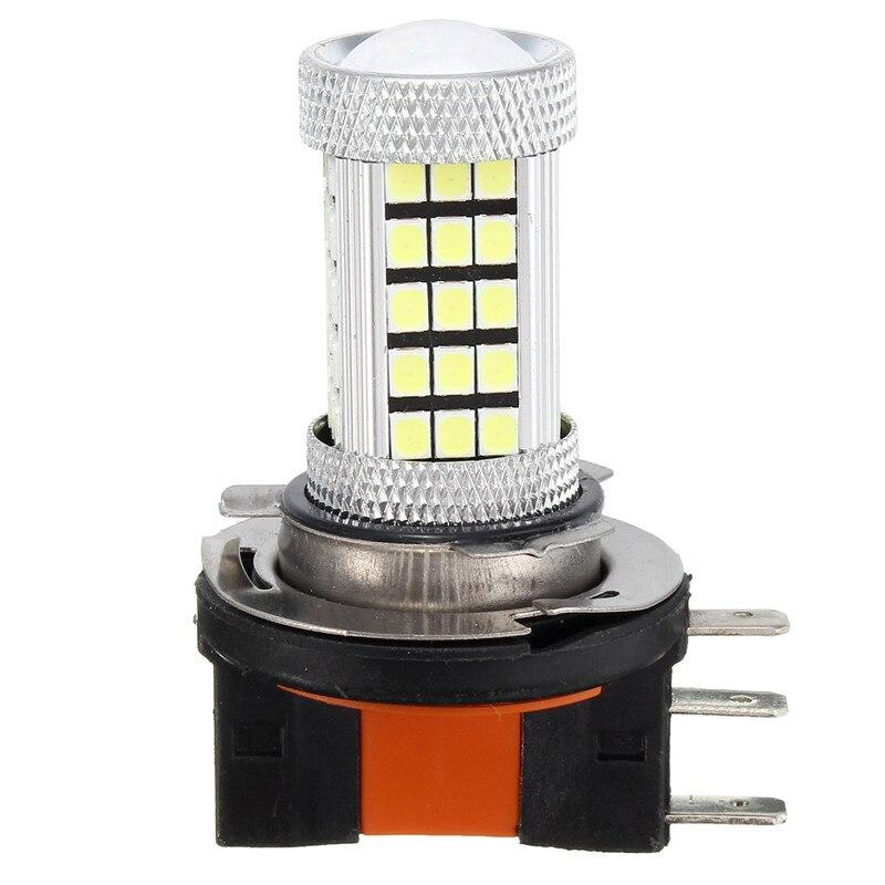 2pcs H15 High Power 63 SMD 2835 Car Auto DRL LED Daytime Running Light Fog Lamp Bulb Pure White 6000K DC 12V-24V