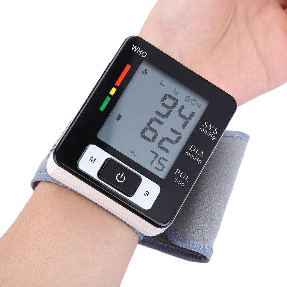 Large&clear Lcd Automatic Ck - W133 Arm Blood Pressure Pulse Monitor Health Care Digital Upper Portable Sphygmomanometer