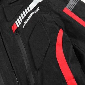 Image 5 - HEROBIKER אופנוע מעיל גברים עמיד למים Moto מעיל אופנוע קר הוכחה סתיו חורף אופנוע רכיבה Moto מעיל שחור