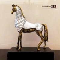 Континентальный ретро лошадь украшения ремесла, американские домашнего интерьера Ювелирная студия украшения подарок на день рождения лош