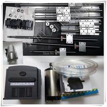 3   LINEAR RAILS +ballscrews RM1605-350/950/1200/1200mm+4BK/BF12 +Nut Housing Bracket +1.5Kw Spindle motor ER16 water cooled VFD