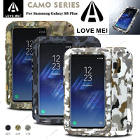 LOVE MEI CAMO Metal Armor Case For Samsung Galaxy S8 Plus Shockproof Water Resistant For S8