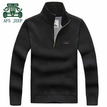 AFS Jeep Cashmere Inner Winter High Warmly Russian Men's Sweater,New Design Pullover Knitted Under Wear Leisure Elasticity